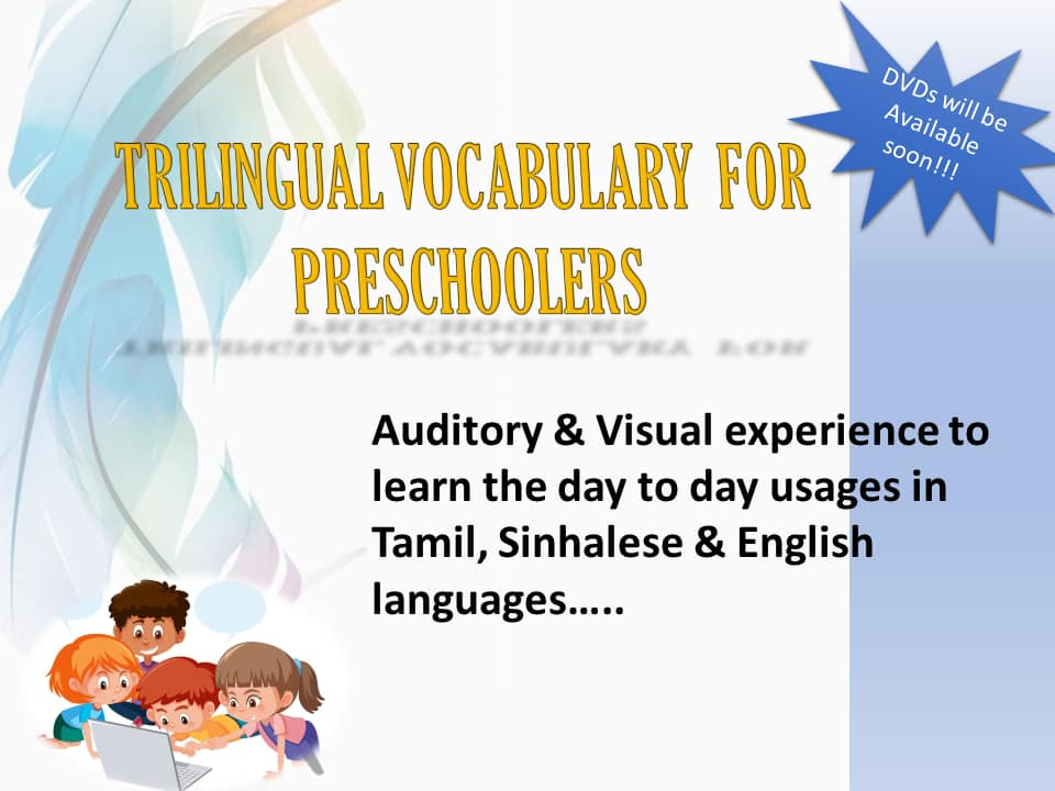 Trilingual vocabulary DVD's for preschoolers