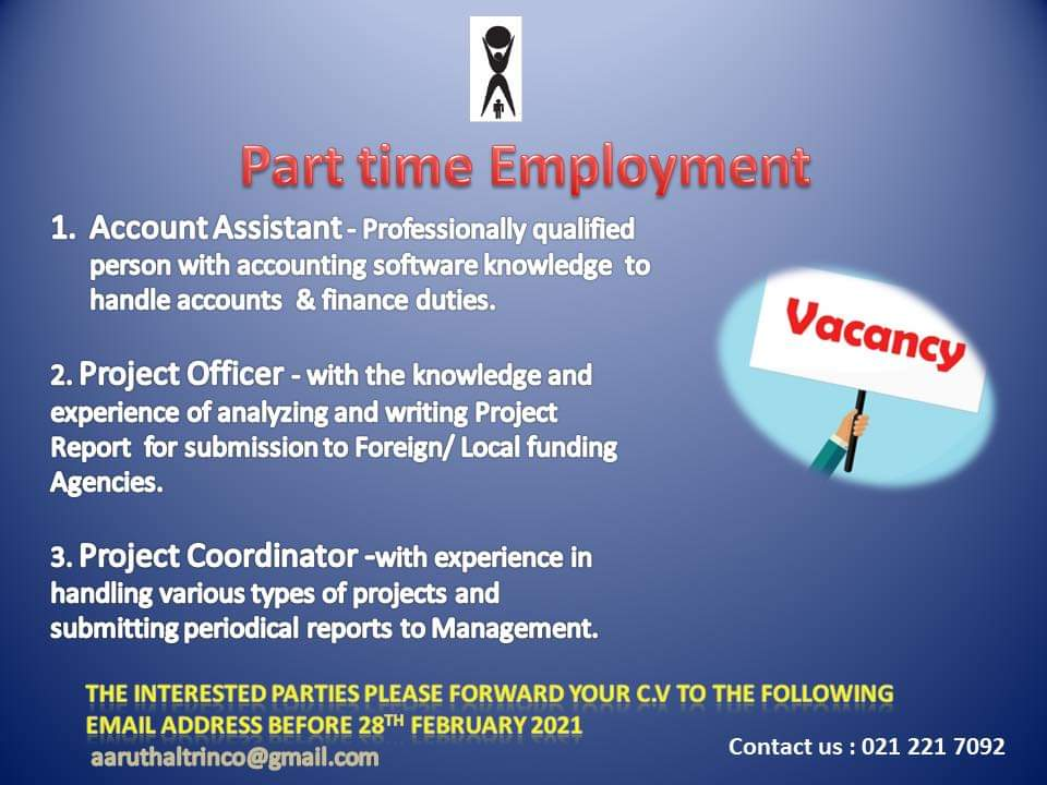 Apply for following vacancies